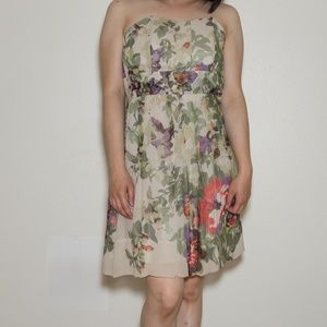 Tracy Reese Plenty Garden Theme Straplsss dress